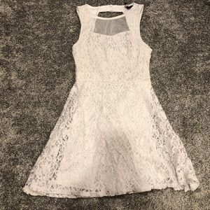 Fire Los Angeles Lace White Dress